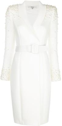 Badgley Mischka embellished blazer dress