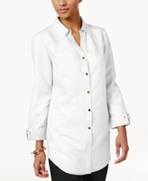 JM Collection Petite Linen-Blend Shirt, Created for Macy's