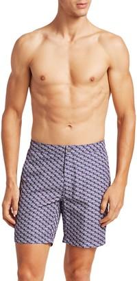 Saks Fifth Avenue MODERN Wave Geometric Swim Shorts