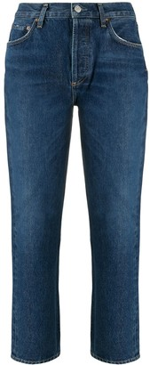 AGOLDE Riley mid-rise cropped jeans