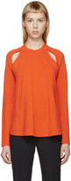 J.W.Anderson Orange Merino Flared Sweater