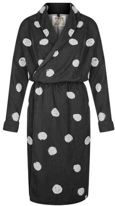 Komodo Natural Ethically made Kusama Dot Wrap Dress - S