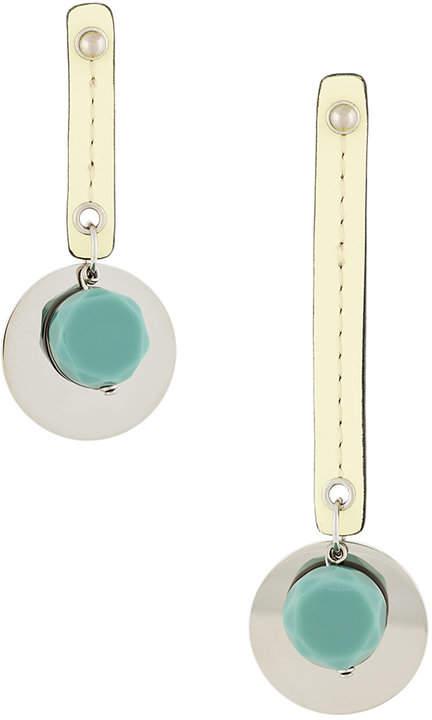 Marni drop circular earrings