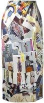 Christopher Kane cut-out midi skirt - women - Silk/Viscose - 38