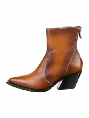Givenchy Leather Western Boots w/ Tags Brown