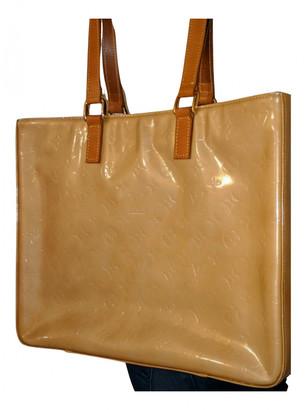Louis Vuitton Columbus Orange Patent leather Handbags