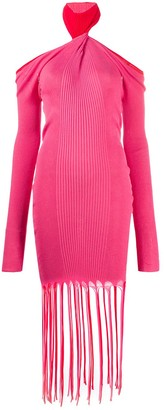 Bottega Veneta Twisted-Neck Ribbed-Knit Dress