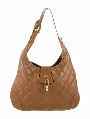 Burberry Quilted Leather Brooke Hobo gold
