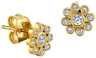 Sydney Evan 14K Yellow Gold & Diamond Flower Single Stud Earring