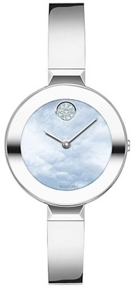 Movado Bold Ion-Plated Stainless Steel Bangle Watch
