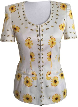 Escada White Cotton Top for Women Vintage