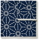 Thumbnail for your product : Blue Blue Japan Printed Indigo-Dyed Cotton Pocket Square