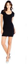 Saint Grace Highland Knit Clover Mini Dress In Black