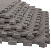 STALWART Stalwart 6-pack Gray Interlocking EVA Foam Floor Mats