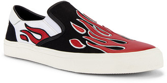 Amiri Flame Slip On in Black & White & Red | FWRD