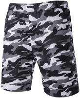 LETSQK Men's Running Board Shorts Camo Beach Surfing Quick Dry Swrim Trunk L