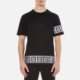 Versace Collection Greek Patterned Embossed Tshirt - Black