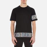 Versace Collection Greek Patterned Embossed Tshirt - Black