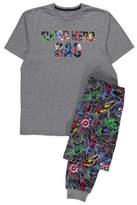 George Marvel Avengers Short Sleeve Dad Slogan Pyjamas