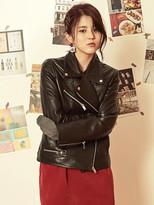 Blank Black Leather Rider Jacket-bk