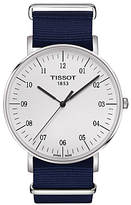 Tissot T1096101703700 Everytime Big Quartz Fabric Strap, Blue/white