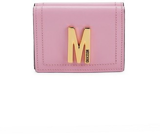Moschino Logo Leather Tri-Fold Wallet
