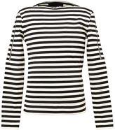 Juun.J zip trim striped T-shirt