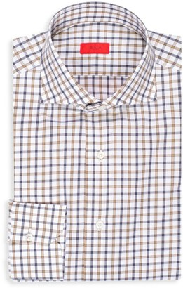 Isaia Checker Dress Shirt