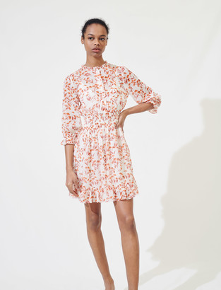 Maje Printed smocked dress