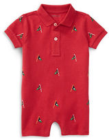 Ralph Lauren Childrenswear Embroidered Cotton Mesh Polo Shortall