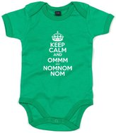 Brand88 Keep Calm And Omm NomNom, Printed Baby Grow - 0-3 Months