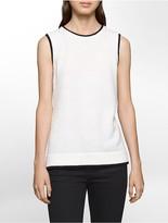Calvin Klein Contrast Trim Textured Shell