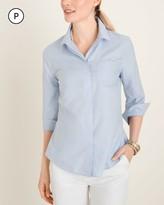 No Iron Petite Cotton Pocket-Detail Shirt