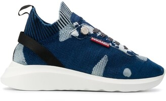DSQUARED2 D-Bumpy bleached denim sneakers