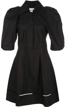 KHAITE flared shirt dress