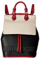 Love Moschino Embossed Hi-Freq Logo Backpack Backpack Bags