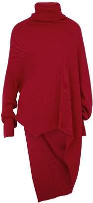 Marques Almeida Marques' Almeida MARQUES' ALMEIDA Red Draped Wool Jumper