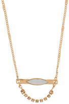 Stephan & Co Mini Opal Stone Bar Pendant Necklace