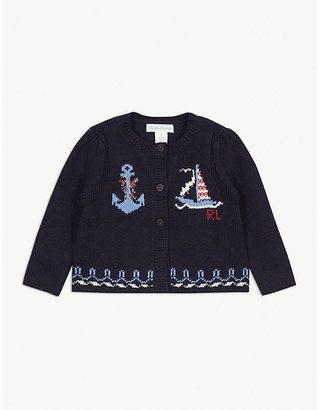 Ralph Lauren Nautical cotton cardigan 3-24 months