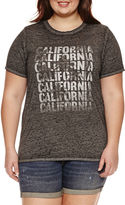 Arizona California Graphic T-Shirt- Juniors Plus
