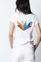 Zadig & Voltaire Love Rainbow Strass Henley T-shirt
