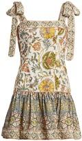 Zimmermann Edie Tie-Shoulder Mini Flare Dress