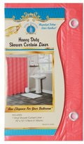Solid Red Vinyl Shower Curtain Liner Heavy Duty w/ Metal Grommets & Magnets