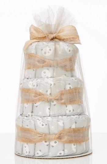 The Honest Company Infant Mini Diaper Cake & Travel-Size Essentials Set