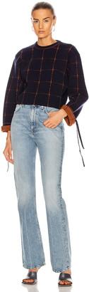 Chloé Check Crop Knit in Blue & Orange | FWRD