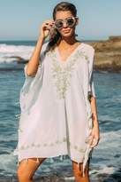 francesca's Briana Embroidered Tassel Swim Cover-Up - Ivory