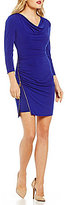 Jessica Simpson Cowl Neck Front Zipper Dress