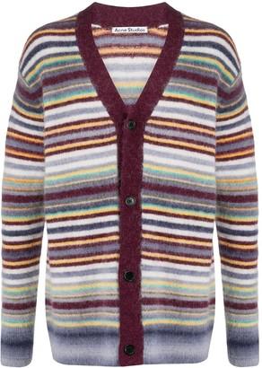 Acne Studios striped V-neck cardigan