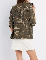 Charlotte Russe Palm Springs Camo Anorak Jacket