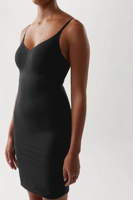 Cos Recycled Nylon Sculpting Slip Dress